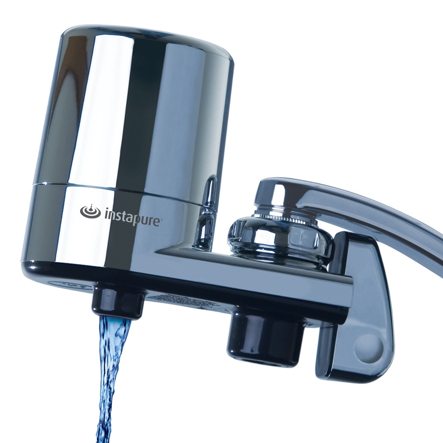 Instapure Faucet Filter Chrome Finish - Use For Existing Kitchen Faucets